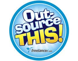 "#239 untuk Logo Design for Want a sticker designed for Freelancer.com ""Outsource this!"" oleh ivandacanay"