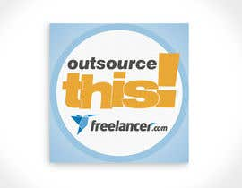 "#79 untuk Logo Design for Want a sticker designed for Freelancer.com ""Outsource this!"" oleh santarellid"