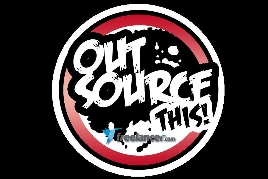 "#131 for Logo Design for Want a sticker designed for Freelancer.com ""Outsource this!"" by kaluluwangligaw"