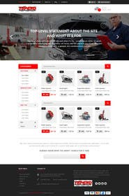 #12 untuk Design a Website Mockup for an auto parts wesbite oleh kreativeminds
