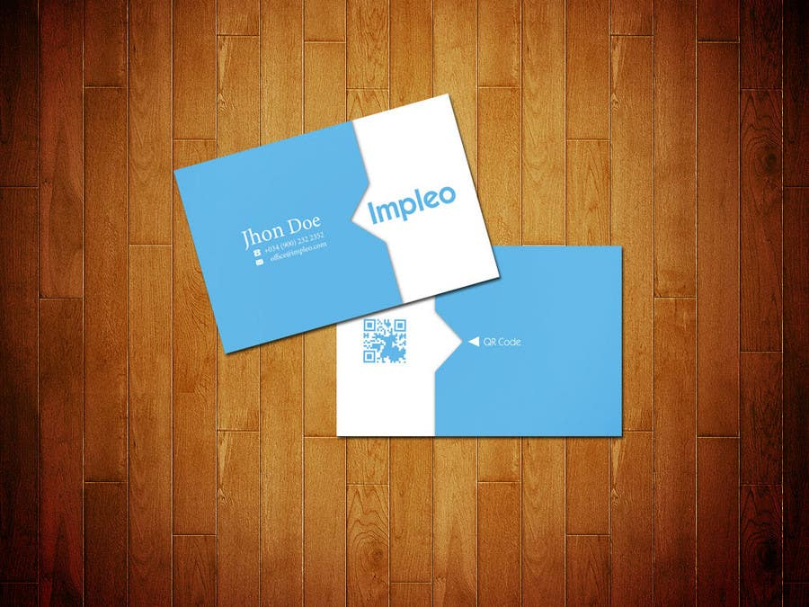Proposition n°                                        76                                      du concours                                         Business Card Design for Impleo