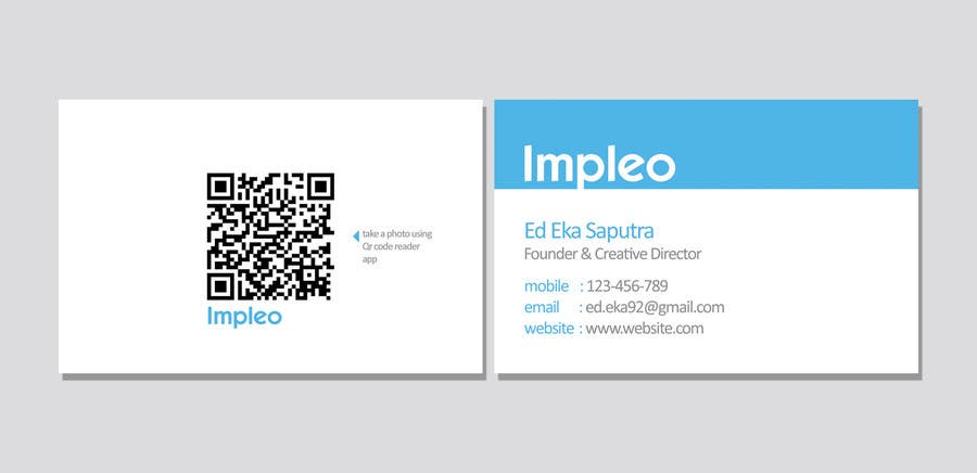 Proposition n°                                        68                                      du concours                                         Business Card Design for Impleo