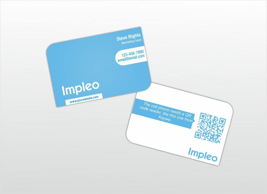 Proposition n°                                        96                                      du concours                                         Business Card Design for Impleo