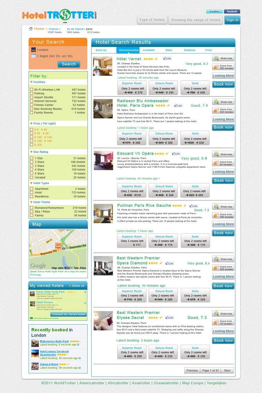 Contest Entry #80 for Website Design for Hoteltrotter