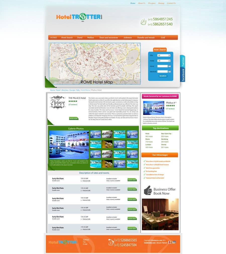 Inscrição nº 96 do Concurso para Website Design for Hoteltrotter