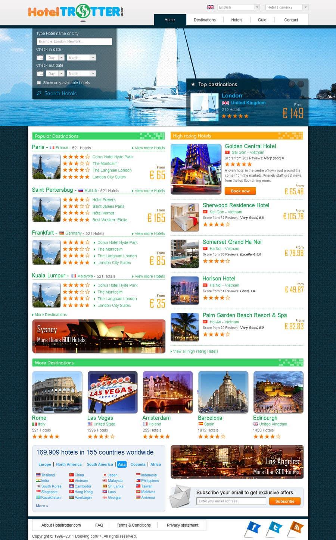 Inscrição nº 27 do Concurso para Website Design for Hoteltrotter