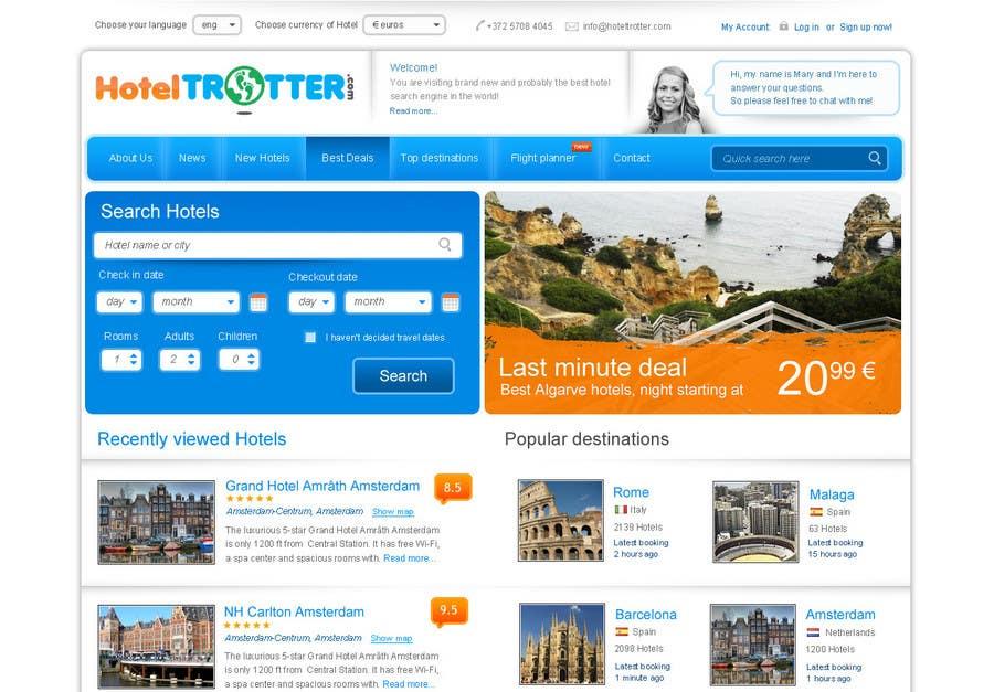 Inscrição nº 87 do Concurso para Website Design for Hoteltrotter