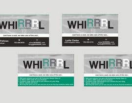 #13 untuk Design some Business Cards for WHIRRRL oleh Shrey0017