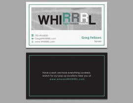#17 untuk Design some Business Cards for WHIRRRL oleh einsanimation