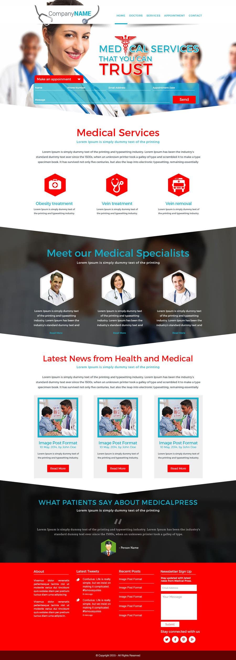 Bài tham dự cuộc thi #11 cho Design a Website Mockup for a surgeon