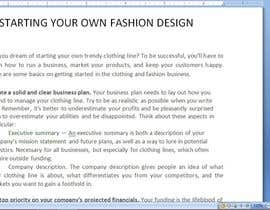 #1 untuk Article competition - fashion business entrepreneurs oleh ARMAANJEE