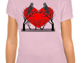 #24 cho Lovebird Design for White and Pink Women's T-Shirts bởi hedayetmdansari