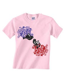 #55 cho Lovebird Design for White and Pink Women's T-Shirts bởi squirrel1811