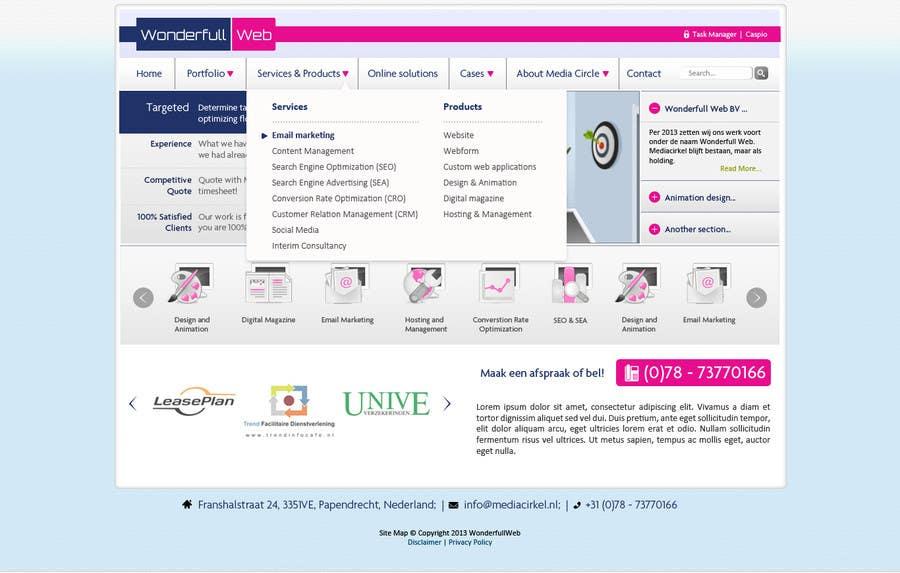 Penyertaan Peraduan #                                        26                                      untuk                                         Design a Website Mockup for www.wonderfullweb.nl