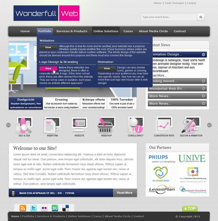 Penyertaan Peraduan #                                        21                                      untuk                                         Design a Website Mockup for www.wonderfullweb.nl