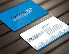 Derard tarafından Design Contemporary, Modern Business Cards for Strategic Note Network için no 28