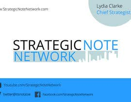 manojkaninwal tarafından Design Contemporary, Modern Business Cards for Strategic Note Network için no 30