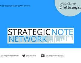 manojkaninwal tarafından Design Contemporary, Modern Business Cards for Strategic Note Network için no 32