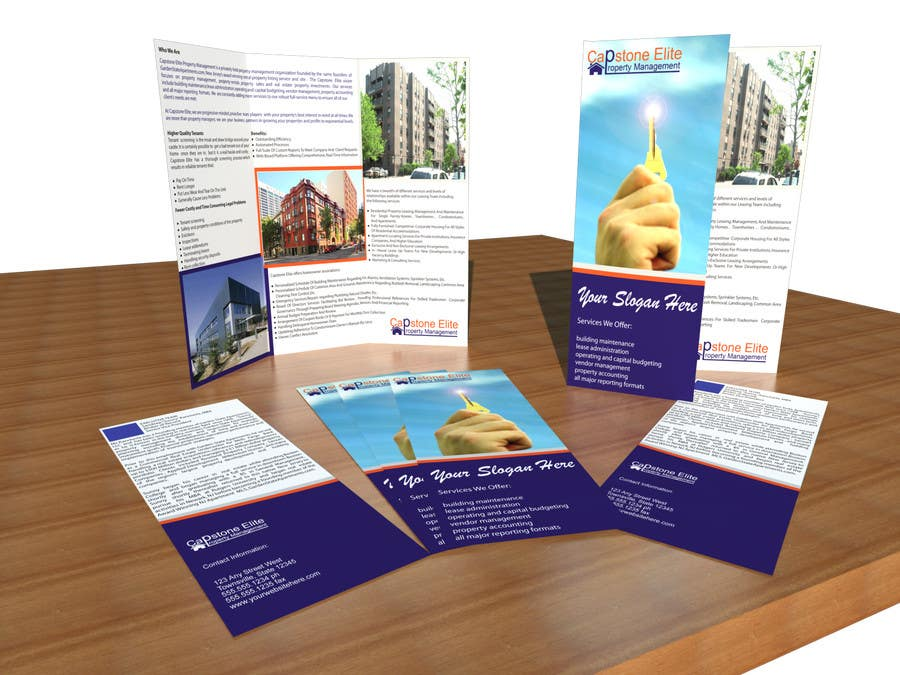 Bài tham dự cuộc thi #7 cho Design a short form Marketing Booklet or Company Promotion Folder for Real Estate Company