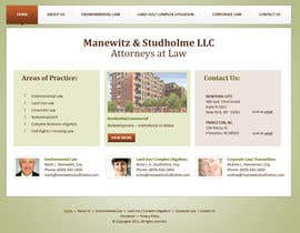#23 para Website Design for Manewitz & Studholme LLC por CreativeDezigner
