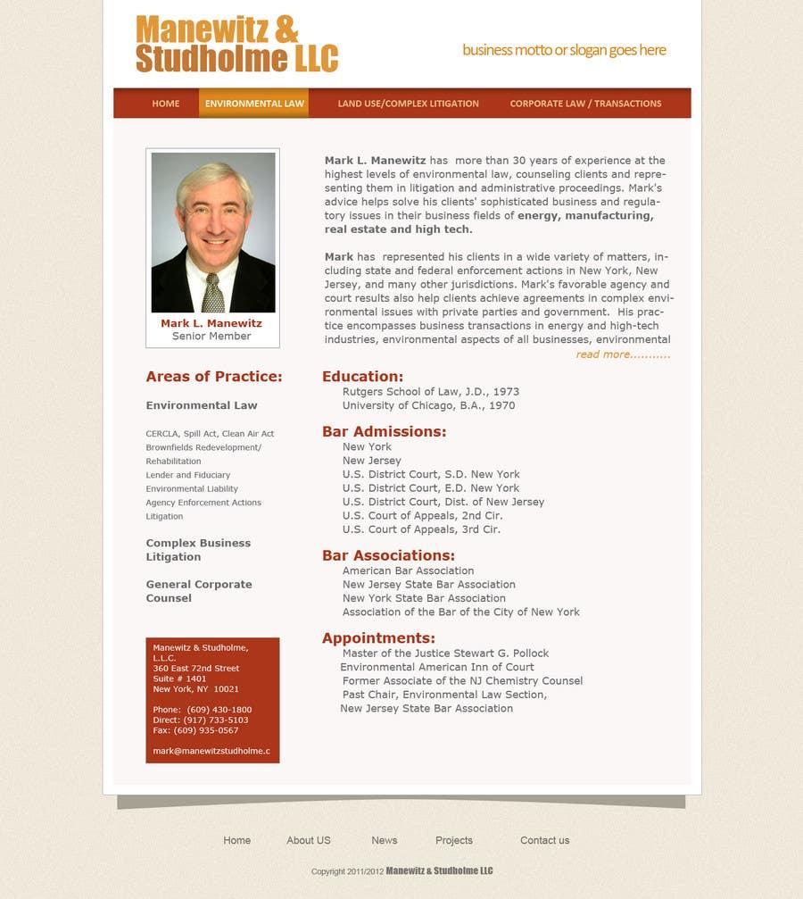 #7 for Website Design for Manewitz & Studholme LLC by pradeepkc