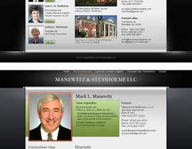 Kashins tarafından Website Design for Manewitz & Studholme LLC için no 135