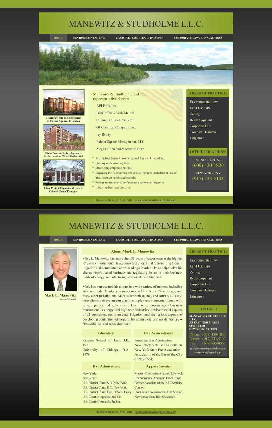 #130 for Website Design for Manewitz & Studholme LLC by MohammadNadeem91