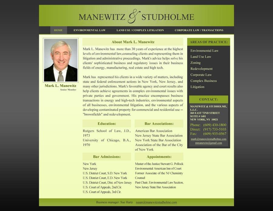 #122 for Website Design for Manewitz & Studholme LLC by MohammadNadeem91