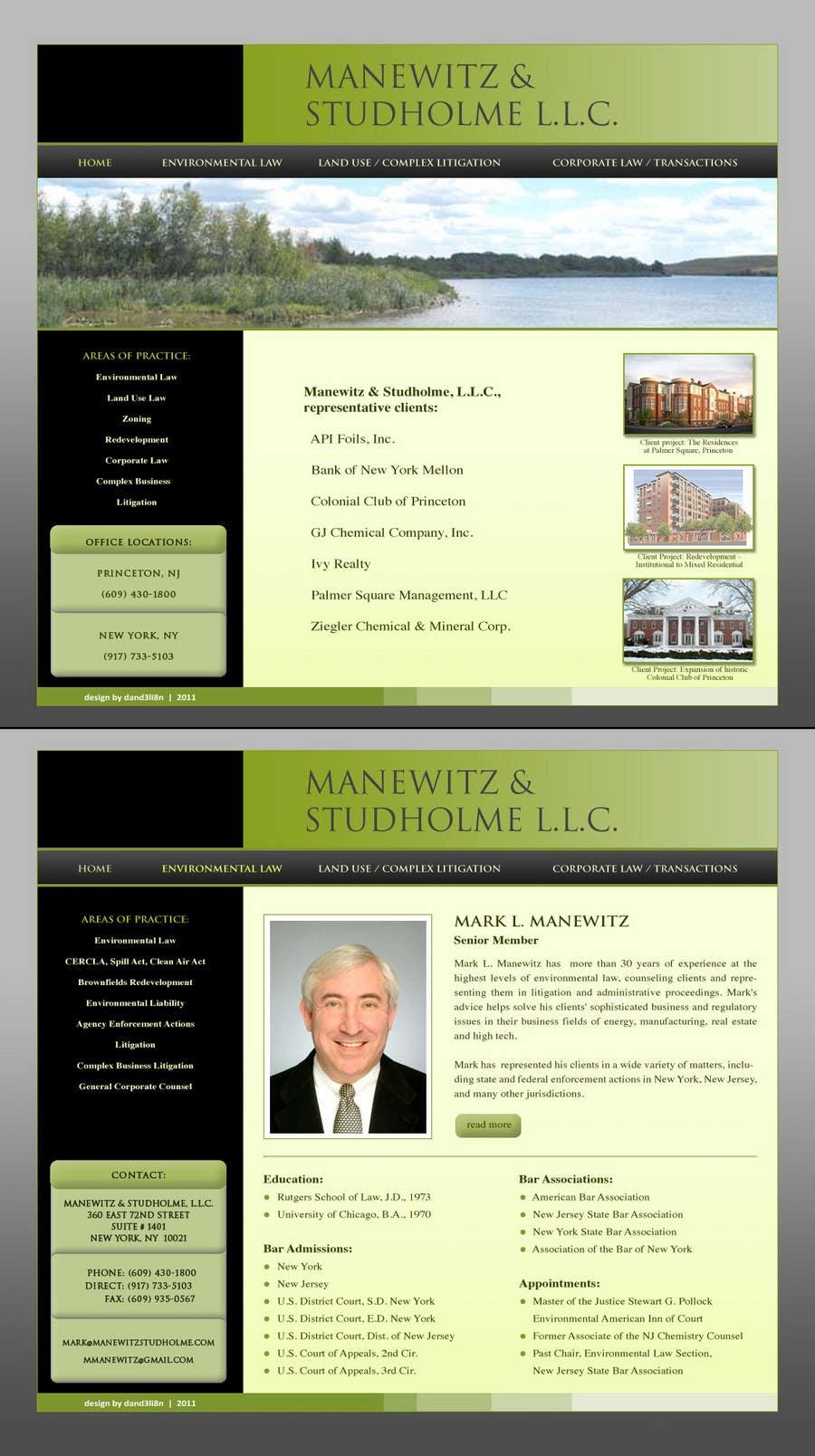 #66 for Website Design for Manewitz & Studholme LLC by dand3li8n