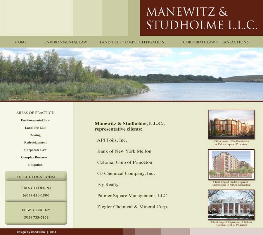 #15 for Website Design for Manewitz & Studholme LLC by dand3li8n