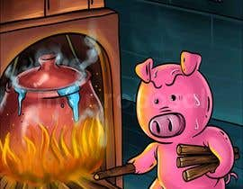 "#17 for Illustration for one page from the famous story ""Three little pigs"" af janvicvictorio"