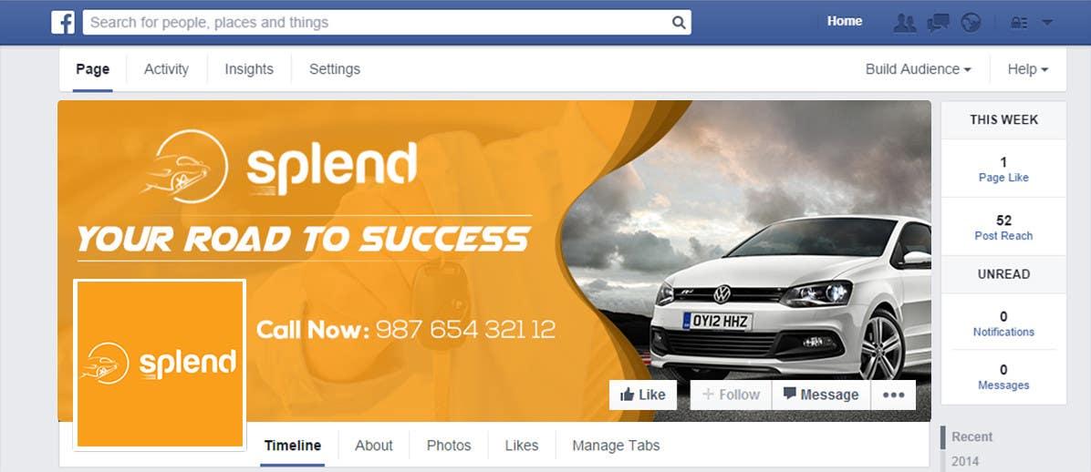 Penyertaan Peraduan #15 untuk Design a Facebook landing page for Splend
