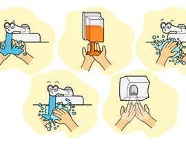nº 13 pour 5 drawings for a strip depicting the washing of hands for children par Stevieyuki