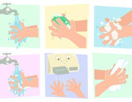 #17 para 5 drawings for a strip depicting the washing of hands for children por jeimarcelino