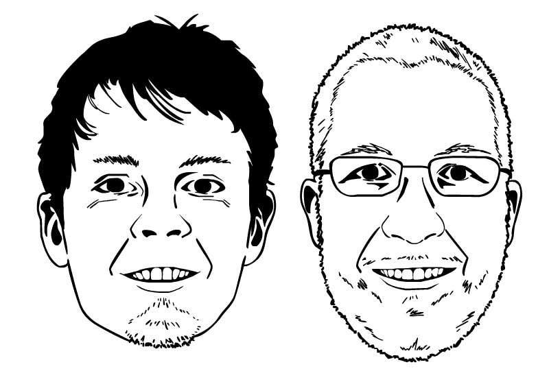 Bài tham dự cuộc thi #3 cho Create a 2D Caricature/Cartoon of 2 Faces