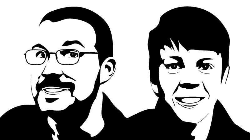 Bài tham dự cuộc thi #12 cho Create a 2D Caricature/Cartoon of 2 Faces