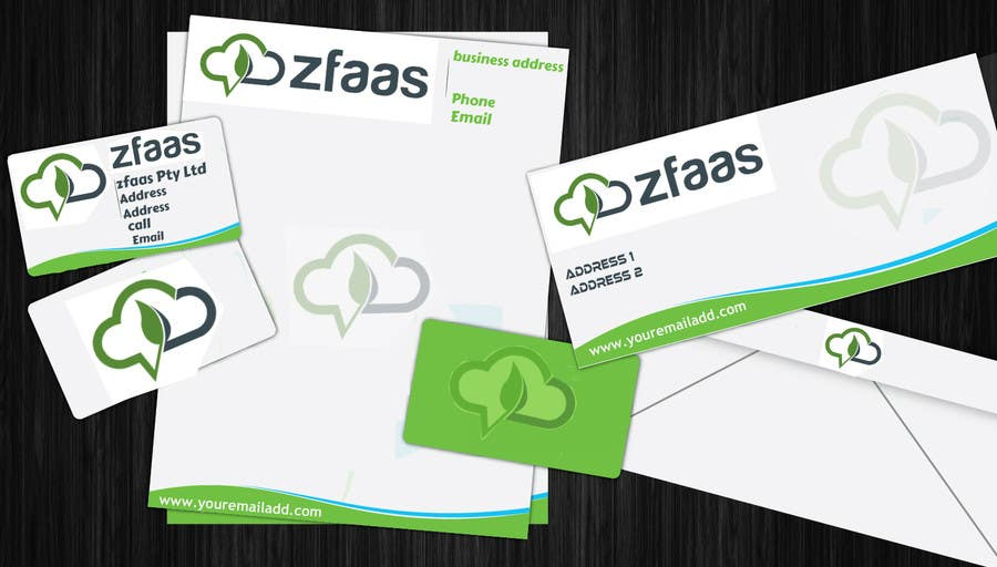 Inscrição nº 1 do Concurso para Design some Business Cards, stationery and a Powerpoint slide template for zfaas Pty Ltd