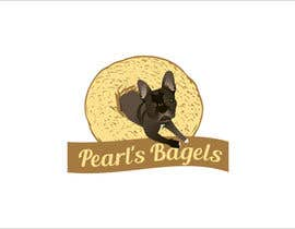 "#31 for French Bulldog -- ""Pearl's Bagels"" bagel company logo af edso0007"