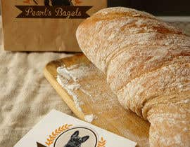 "#24 for French Bulldog -- ""Pearl's Bagels"" bagel company logo by Gulayim"