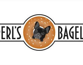 "#23 for French Bulldog -- ""Pearl's Bagels"" bagel company logo af misicivana"