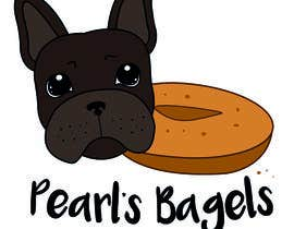 "#13 for French Bulldog -- ""Pearl's Bagels"" bagel company logo af nora1002"