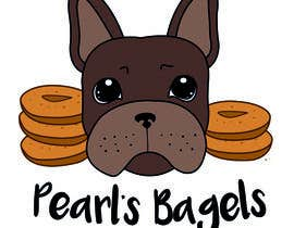 "#15 for French Bulldog -- ""Pearl's Bagels"" bagel company logo af nora1002"