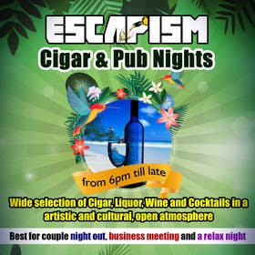 #22 untuk Design an Advertisement for a Cigar Lounge and Pub oleh msdvenkat