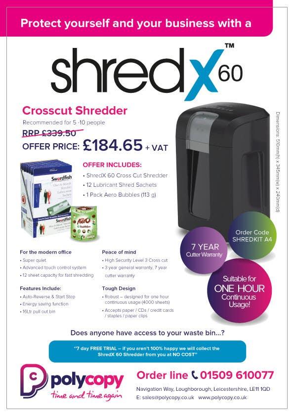 Inscrição nº 1 do Concurso para Shredder leaflet