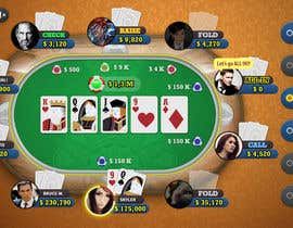 #17 untuk Design an App Mockup wireframe for poker game oleh marumalu