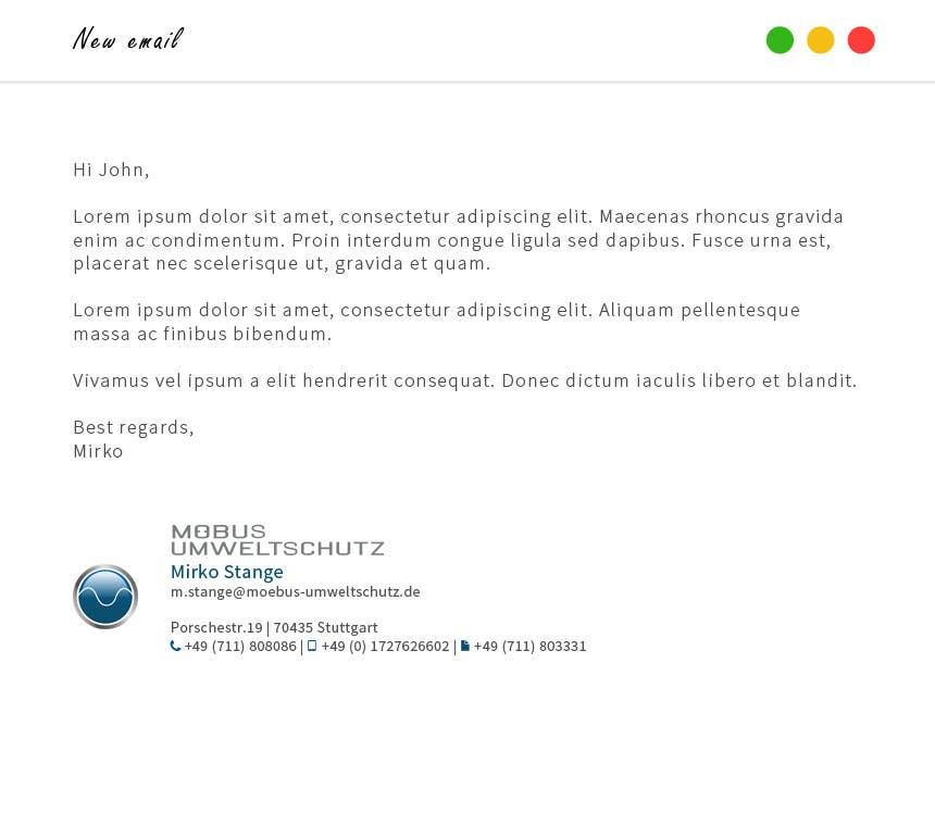Penyertaan Peraduan #23 untuk Make a nice business eMail signature!
