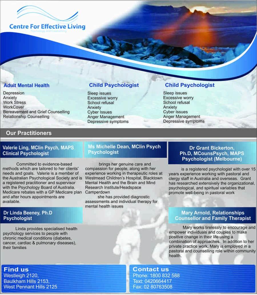 Penyertaan Peraduan #30 untuk Design a Flyer for Psychology service