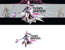 JennyJazzy tarafından Design a Logo and a Banner for the Website of a Gamer Girl Model Agency için no 25