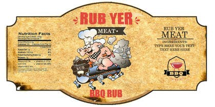 #21 untuk Create Print and Packaging Designs for BBQ Rub Labels oleh RainMQ