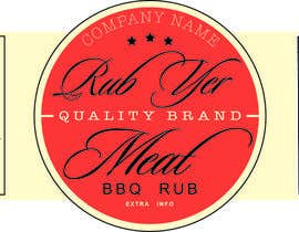 #33 untuk Create Print and Packaging Designs for BBQ Rub Labels oleh CanvasOrange